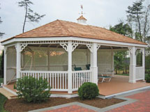20x30 Wood  Oval Gazebo
