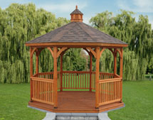 12' Oct Wood Keystone Gazebo