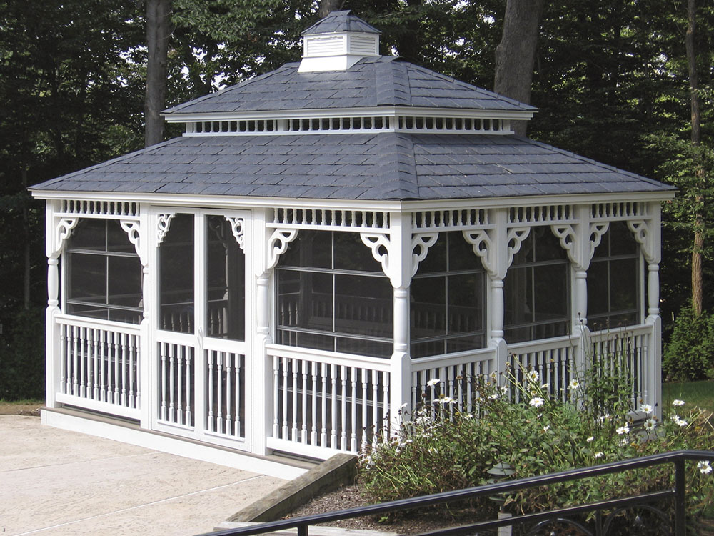 vinyl patio gazebo backyard beyond. Black Bedroom Furniture Sets. Home Design Ideas
