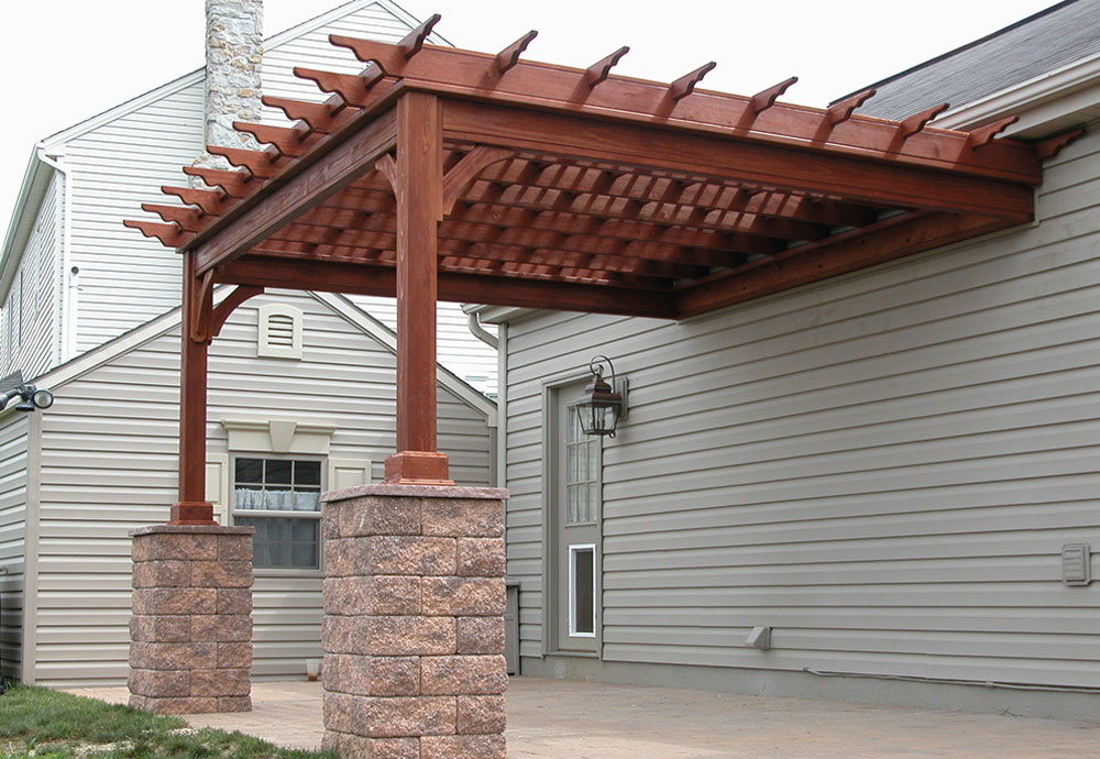 ... Pergola Attached To House PDF building plans a full size loft bed