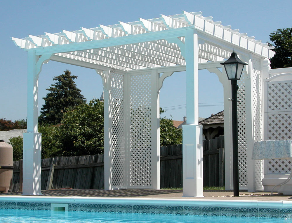 10x10 Traditional Vinyl Pergola - Backyard & Beyond, LLC