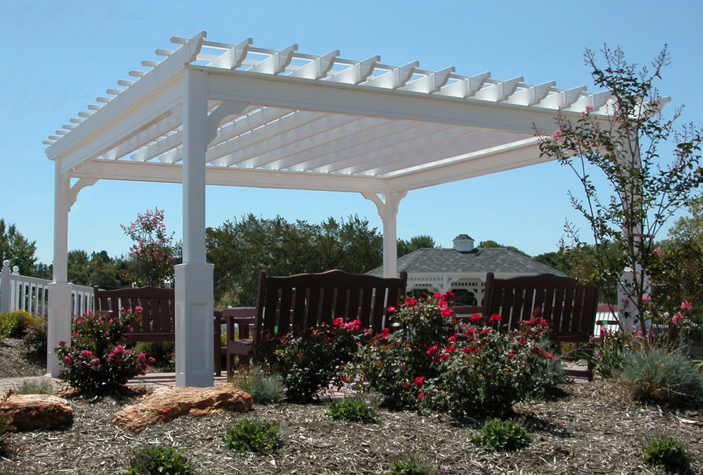 14x14 Traditional Vinyl Pergola  - Backyard & Beyond, LLC