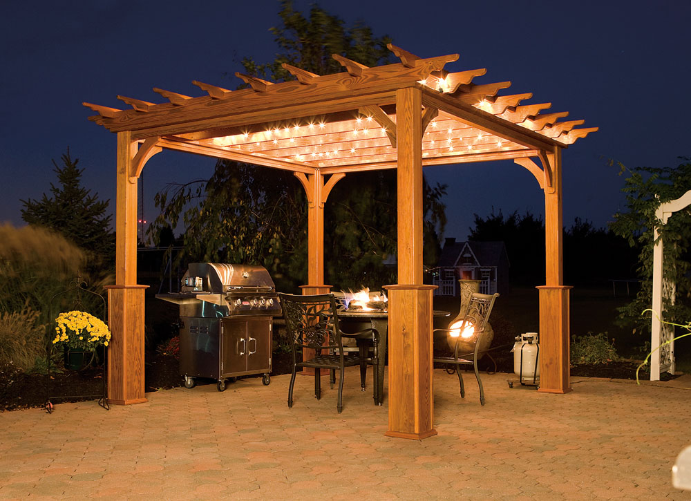 10x10 Traditional Wood Pergola - Backyard & Beyond, LLC
